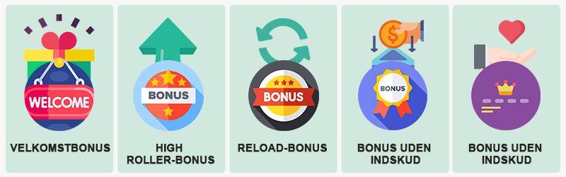 Populære bonustilbud hos casinoer uden licens