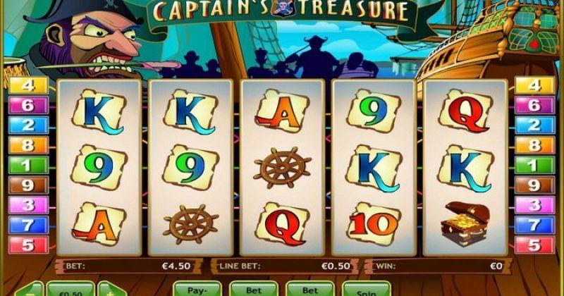 Play in Captain's Treasure slot online fra PlayTech for free now   Danske Casinoer