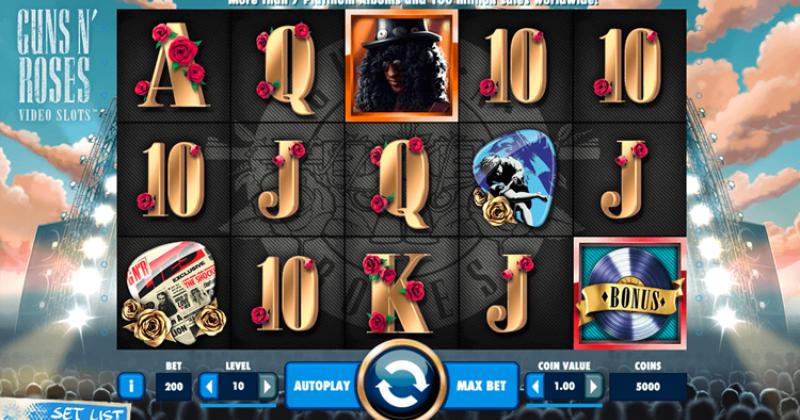 Play in Guns N' Roses slot online fra NetEnt for free now   Danske Casinoer